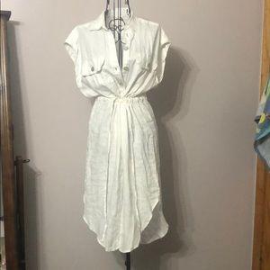 White linen cover/dress
